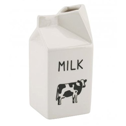 The Home Fusion Company Novelty White Jug Moo Milk Carton Design Jug Ceramic Novelty Design