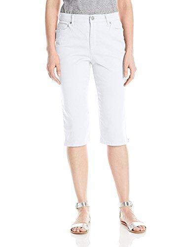 Gloria Vanderbilt Womens Amanda Twill Skimmer Capri Short with Plain Pocket (10, Prism White)