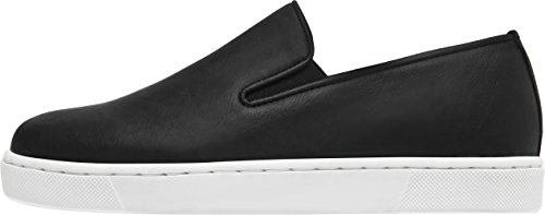Paperplanes-1370 Leather Tall Up Casual Slip-Ons Shoes Black Women 7.5