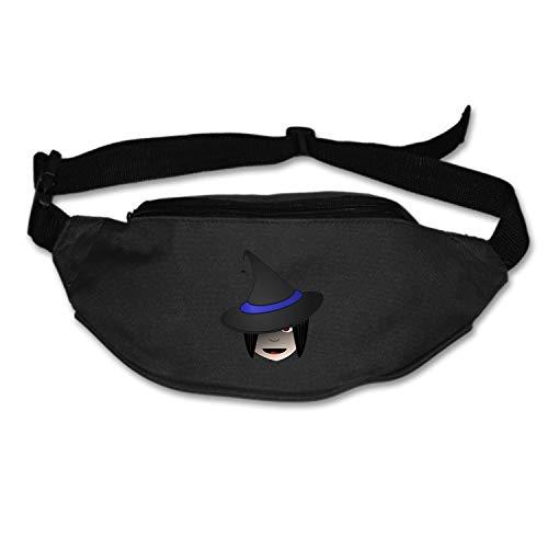 Myfa Lightweight Waist Bag Witch Head Halloween Female Clip-Art Fanny Pack/Bum Bag Adjustable Belt Strap Runner, Cyclist, Outdoor Sports]()