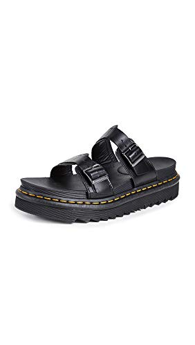 Dr. Martens Myles Black Brando Sandal, 8 Medium UK (US Women's 10, US Mens 9 US) ()