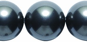 Swarovski 5810 Crystal Round Pearl Beads, 12mm, Black, 8-Pack