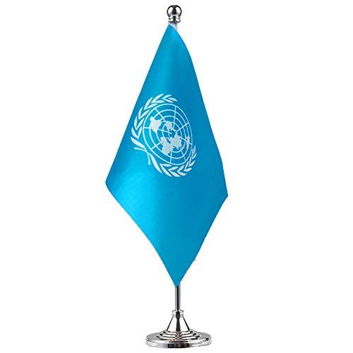 GentleGirl.USA UN International Table Flag, Stick Small Mini United Nations Flag Office Table Flag on Stand with Stand Base, International Festival,Home Desk Decoration]()