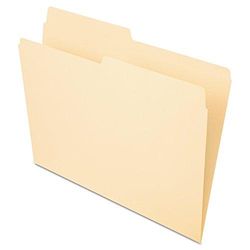 Pendaflex File Folders, Letter Size, Manila, 1/2 Cut, 100/BX (752 1/2)