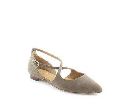Corso Como Womens Mandarin Pointed Toe Flat Mid Brown Nubuck jnqRstL