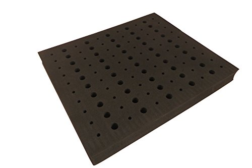 Router Bit Storage Tray Holder 13 x 10.75: x 1.125 High Density Foam for 110 bits (60 each 1/4 and 50 each 1/2) RBT-110 by Taylor Toolworks