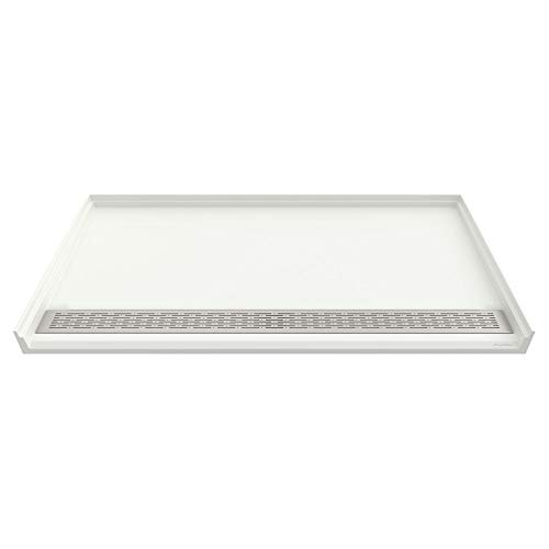 Solid Surface Shower Base - American Standard 3838AM-FCOL.218 Townsend 38 x 38 Inch ADA Solid Surface Shower Base, Soft White
