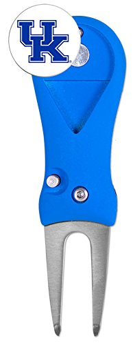 Kentucky Wildcats Spring Action Golf Divot Tool With Golf Ball Marker
