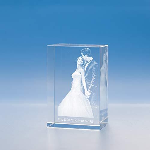 Wedding Tower Crystal, 3D Engraved - Large