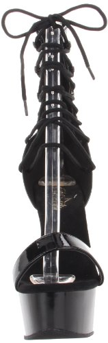 32 Black Platform M Patent B Delight Sandal Pleaser 600 Black Women's wqtYB8