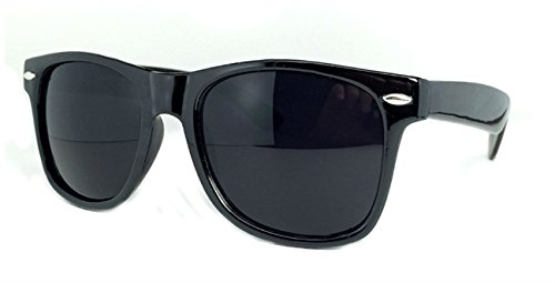 Sunglasses Classic 80's Vintage Style Design (Black Gloss/Super - Navy Sunglasses Blue