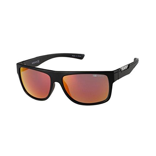 NASCAR Overdrive 104P Polarized Rectangular Sunglasses, Matte Black, 58 - Sunglasses Overdrive