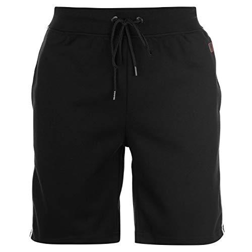 (Pierre Cardin Piped Detail Shorts Mens Black Bottoms Short Pants Summerwear Small)