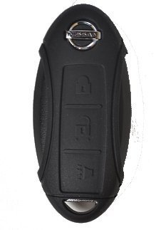 Black New Silicone Cover Protective Case for Select Nissan 3 Button Remotes