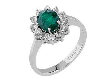 3324751c20d1 Anillo esmeralda Oval y diamants-femme- oro blanco 204r0060  Amazon.es   Joyería