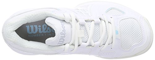 Wilson NVISION CARPET Woman Damen Tennisschuhe Mehrfarbig (White 001A)