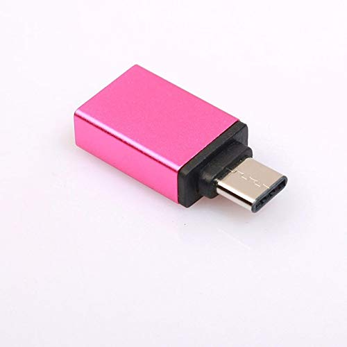 Price comparison product image Connectors Metal USB Type-C Male to USB 3.0 Female Converter Adapter OTG for Svk Huawei Android Phone Tablet Type C Connections Cable - (Cable Length: Type C Adapter,  Color: Rose)
