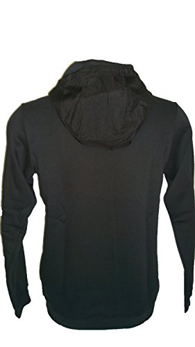 Felpe Nike Uomo Hoodie FLC Black 861714 Cappuccio Cotone Felapto Nero tg S
