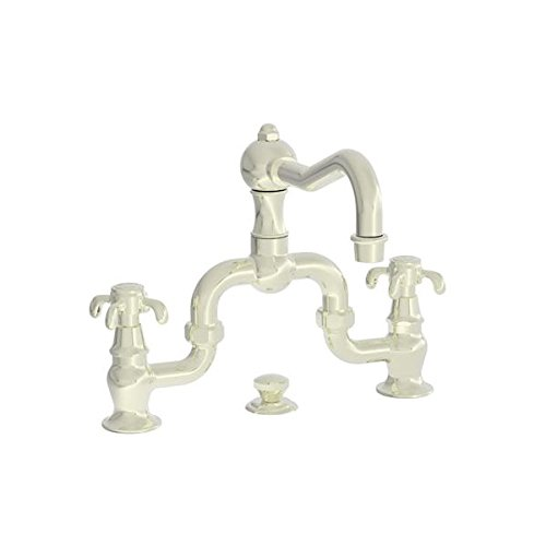UPC 760724269038, Newport Brass 1691/24A Virginia Double Handle Widespread Lavatory Faucet with Metal Cross Handles (Low, French Gold