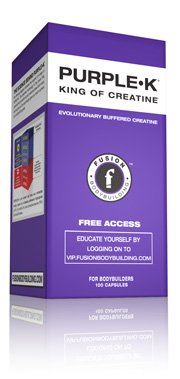 Bodybuilding Fusion Purple-K 100 caps Kre-Alkalyn la créatine pas de rétention de chargement, des ballonnements ou de l'eau