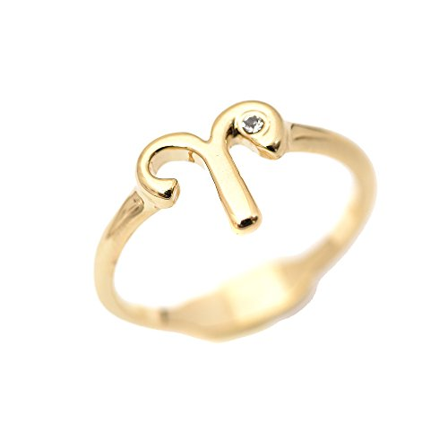 chelseachicNYC Zoidac Sign and Letter Constellation Ring (Aries) (Aries Ring)