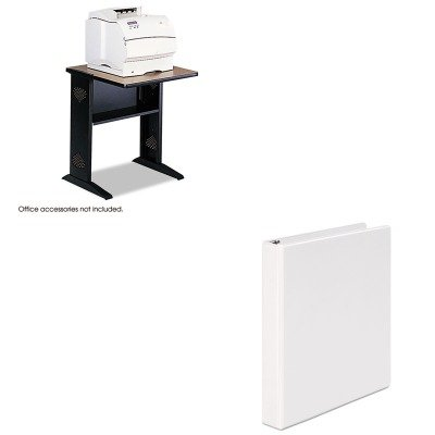 KITSAF1934UNV20962 - Value Kit - Safco Fax/Printer Stand w/Reversible Top (SAF1934) and Universal Round Ring Economy Vinyl View Binder (UNV20962) -