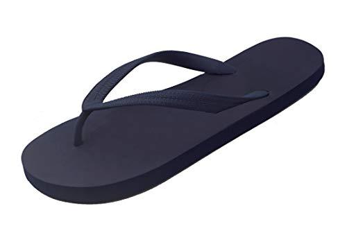 Hipper Women's Soft Comfortable Rubber Flip Flop Thong Sandal (6 B(M) US, Navy Blue)