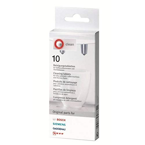 Cleaning Tablets for Bosch, Siemens,Gaggenau and Neff - 10 Pack