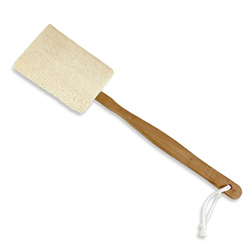 100% Natural Loofah Scrubber with Detatchable Handle by Kingsley