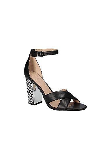 Sandalo Donna MainApps Pelle FLRNE1LEA03 in Black Guess Nera 5Tp8Bw