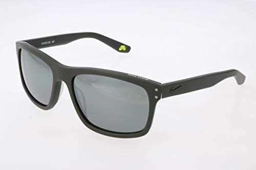 Nike EV1023-332 Flow Sunglasses (Frame Grey with Silver Flash Lens), Matte Cargo Khaki (Sb Square)