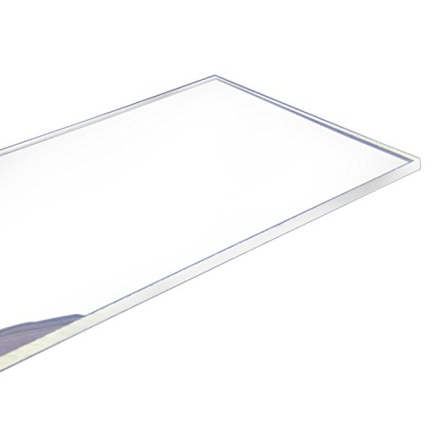 Cast Acrylic Sheet 0.25-Inchx12-Inchx12-Inch Clear 1-Sheet for Cosmetics,Aquarium,Window,Display Rack,Signs,Light Boxes,Telephone ()