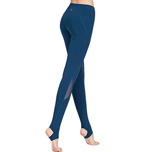 Sexy Correr Deportivos Leggings Azul Alta Pantalones Estiramiento Cintura Densidad Para De Ejercicios Alto Zcx Yoga Mujer Gimnasio Talle aPw5q5R
