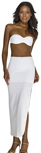 David's Bridal Dominique Full Length Control Slip Style 7218WHITE, White, M (Slip For Wedding Dress)