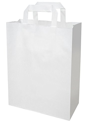 250 Papiertragetaschen in weiß 22+10x28 cm