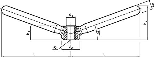 Halder 24470.0816Clamping Nuts, Steel, Matt, L = ~ 118mm/Stainless Steel