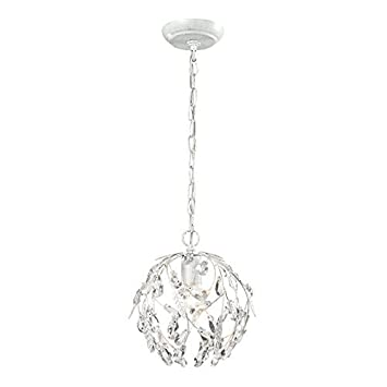 ELK Lighting 18123 1 Circeo Collection 1 Light Mini Pendant, 10 x 10 x 10 , Antique White