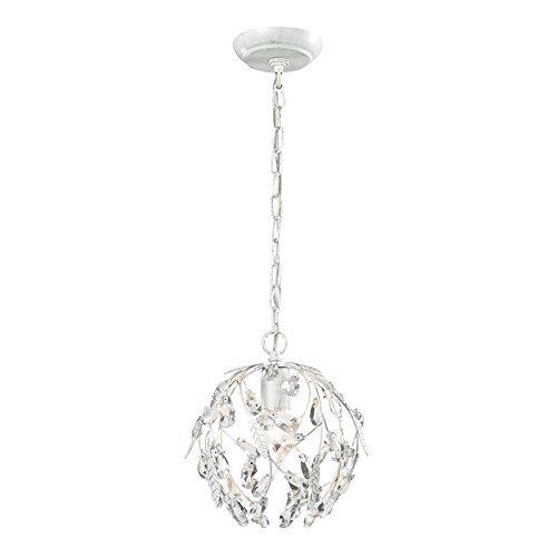 "ELK Lighting 18123/1 Circeo Collection 1 Light Mini Pendant, 10 x 10 x 10"", Antique White from ELK Lighting"
