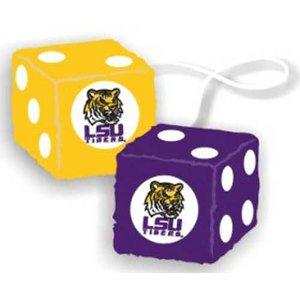 LSU Tigers Fuzzy Dice