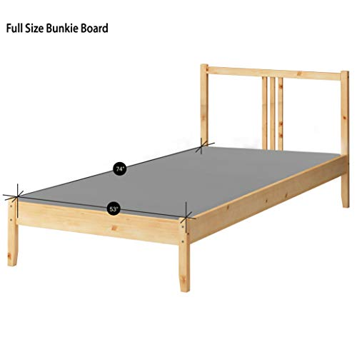 Greaton 1.5-Inch Solid Wood Bunkie Board Mattress/Bed Support, Fits Standard, Full Size, 74x53x1.5, Grey