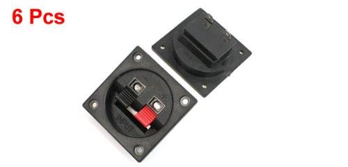 6pcs Red Black Push in Type Horizontal Plastic Shell Speaker Plate
