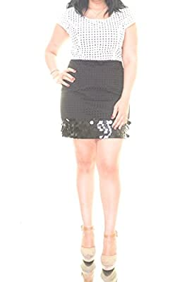 Kensie Womens Black Combo Short Sleeve Dress Size XL