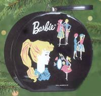 2000 Hallmark Keepsake Ornament 1962 Barbie Hatbox Doll Case