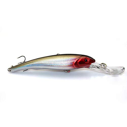 - WEEFORT 1PC Minnow Fishing Lures Hard Bait 3D Eyes Deep Swim Saltwater Swimbait Sinking Wobbler Topwater Jig