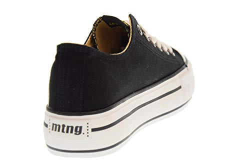 Mujer Canvas Negro Para Black Mtng 69423 Zapatillas Bx07qwyXa