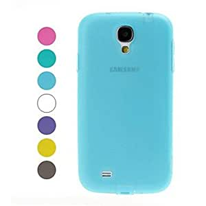 Bkjhkjy Simple Solid Color TPU Soft Case for Samsung Galaxy S4 i9500 , Purple