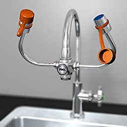 Guardian G1101 Plastic EyeSafe-X Faucet-Mounted Eyewash, Adjustable Aerated Outlet Heads