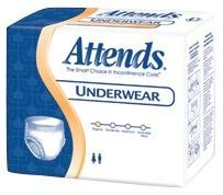48APP0720CA - Attends Super Plus Absorbency Pull-On Protective Underwear with Leakage Barrier Medium 34 - 44