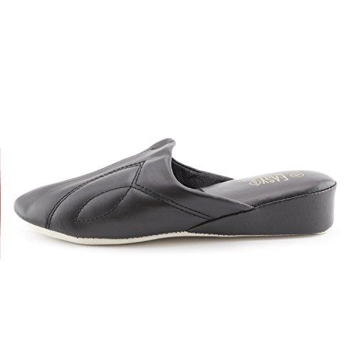 Comfortabele Dameslinnen Slippers Voor Dames (volwassenen) Zwart