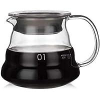 MIBRU V60 Coffee Server   Heat Resistant Glass Pot   Pour Over Coffee Tea Server   Kettle Coffee Maker Teapot   Hand…